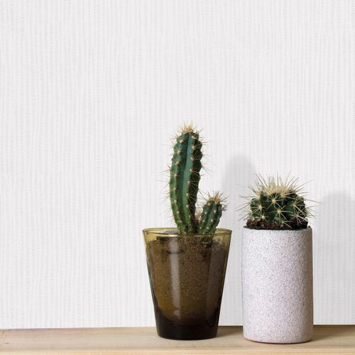 Sencys papier peint intissé à peindre herbe blanc