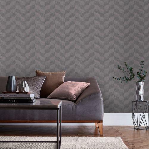 Papier peint intissé DecoMode Wave gris