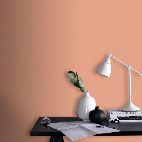 DecoMode vliesbehang Basic cotton terracotta