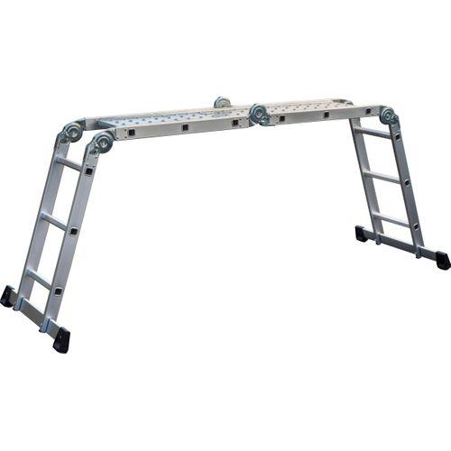 Escalo plooiladder 'Multifold' aluminium 4x3 treden