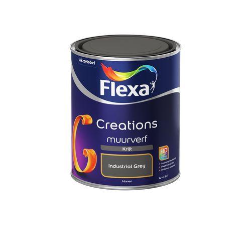 Flexa muurverf Creations krijt industral grey 1L