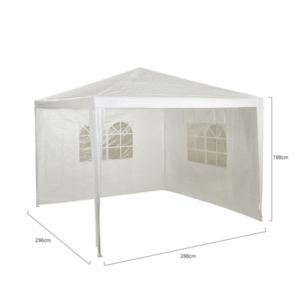 Central Park zijwand partytent Basic wit