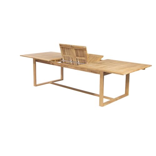 Table de jardin Central Park Bayeux extensible teck 223/305x110cm