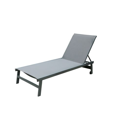 Central Park chaise longue Formia aluminium / textilène 4 positions anthracite