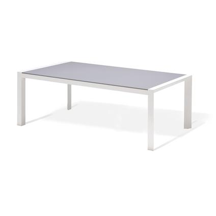 Table de jardin Central Park Anzio gris aluminium 202x100cm