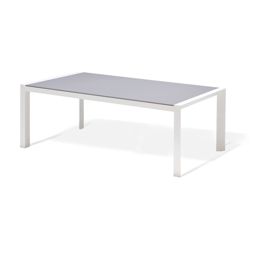 Table de jardin Central Park Anzio gris aluminium 202x100cm