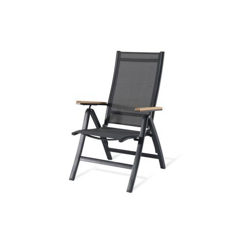 Chaise de jardin Central Park Limoux aluminium anthracite