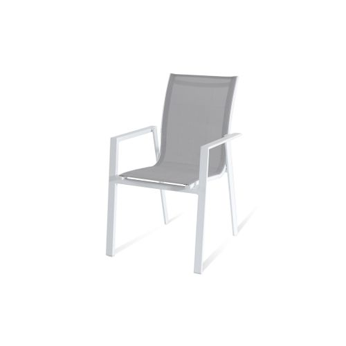 Chaise de Jardin empilable Central Park Anzio blanc