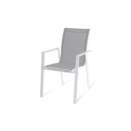 Chaise de Jardin empilable Central Park Anzio blanc