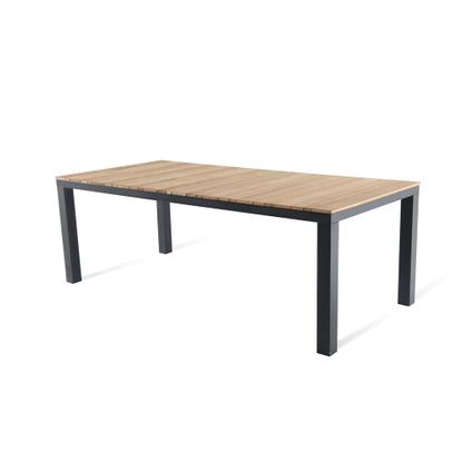 Table de jardin Central Park Limoux teck/aluminium 215x100