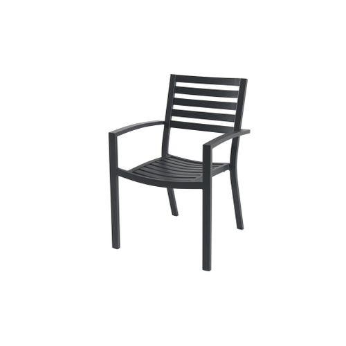 Chaise de Jardin empilable Central Park Vina noir