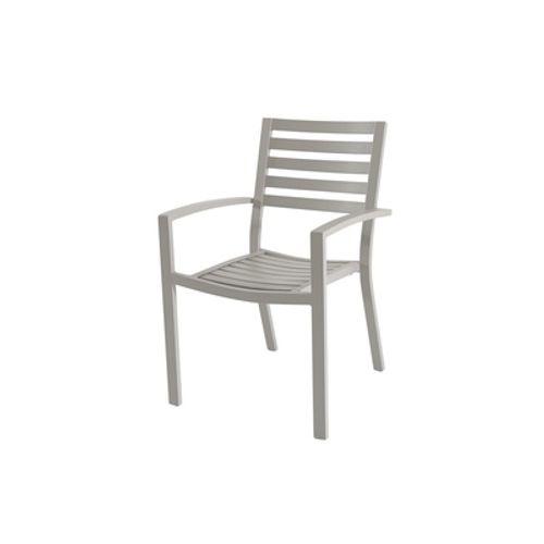 Central Park Chaise avec accoudoirs 'Vina' aluminium gris