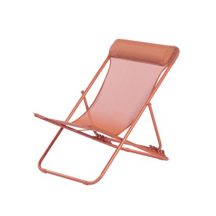 Chaise de plage Central Park Sevilla acier rouge