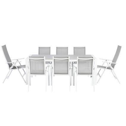 Chaise de Jardin multi-positions Central Park Anzio gris