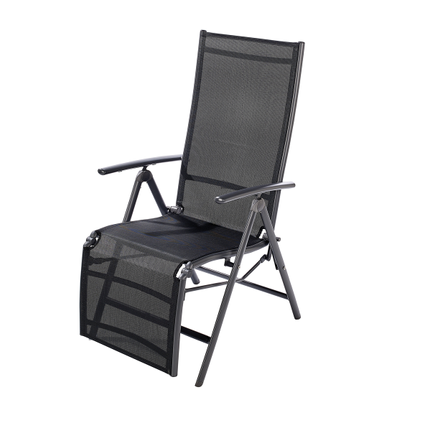 Chaise de jardin Central Park Palma multiposition aluminium anthracite