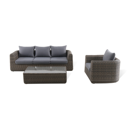 Ensemble lounge Central Park Dieppe 3pcs brun/gris - 2019 -
