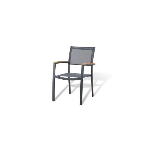 Chaise de Jardin empilable Central Park Analee gris foné
