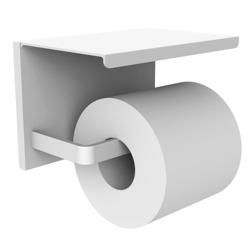 Allibert toiletrolhouder Loft-Game met plateau wit mat