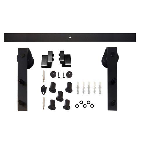 Intersteel schuifdeursysteem Wheel mat zwart 100cm