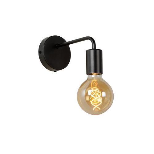 Lucide wandlamp Scott zwart E27