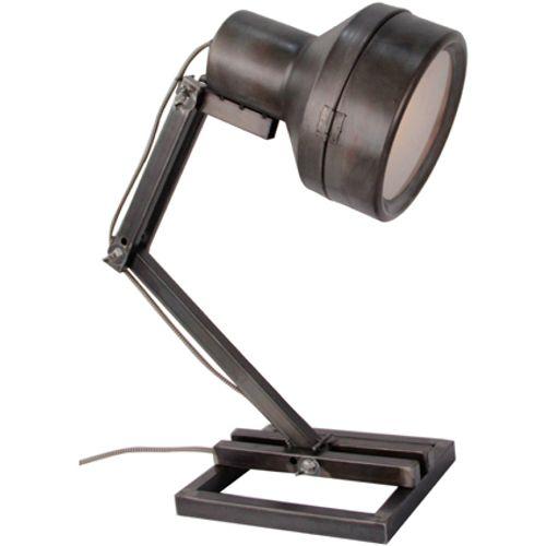 Brilliant tafellamp Hardwork zwart staal 28W