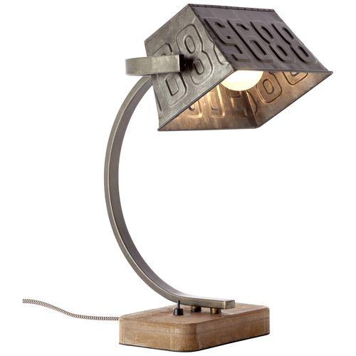 Brilliant tafellamp Drake zwart staal 40W