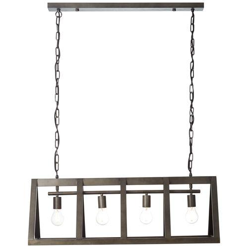 Brilliant hanglamp Matrix zwart 4xE27