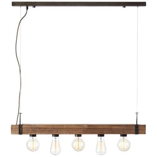 Brilliant hanglamp Woodhill zwart 5xE27