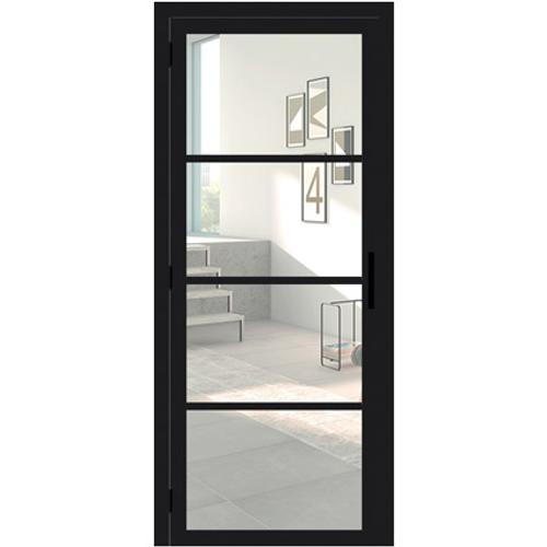 Porte en verre Thys Steel Look 201,5x73cm