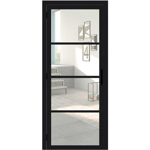 Porte en verre Thys Steel Look 201,5x83cm