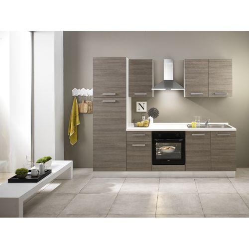 Keukenblok Sofia notenhout 250cm