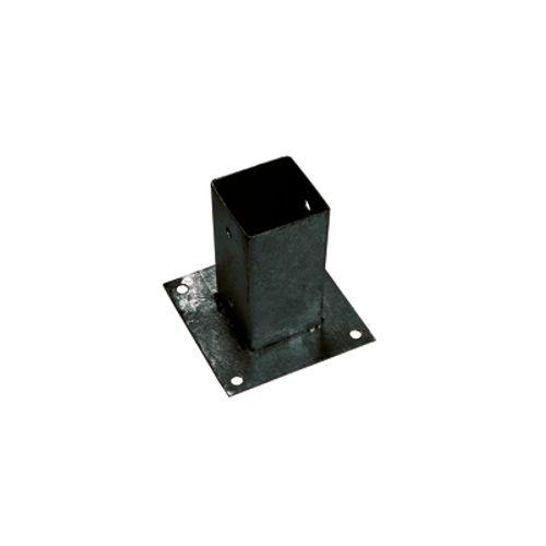 Giardino bodemplaat, 71x71x150mm RAL 9005 zwart