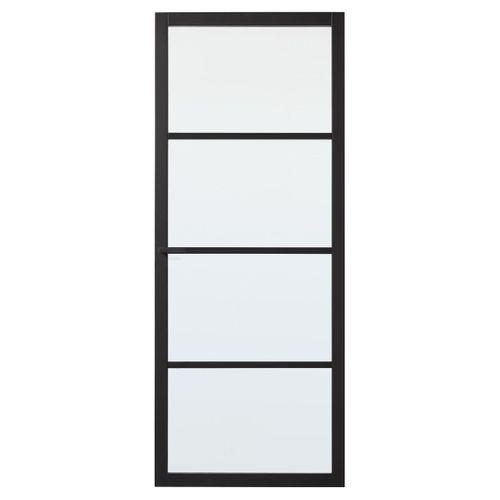 CanDo luxe binnendeur Bradford blank glas 4-ruits opdek links 201,5 x 83cm