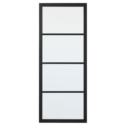 CanDo luxe binnendeur Bradford blank glas 4-ruits opdek links 231,5 x 93cm