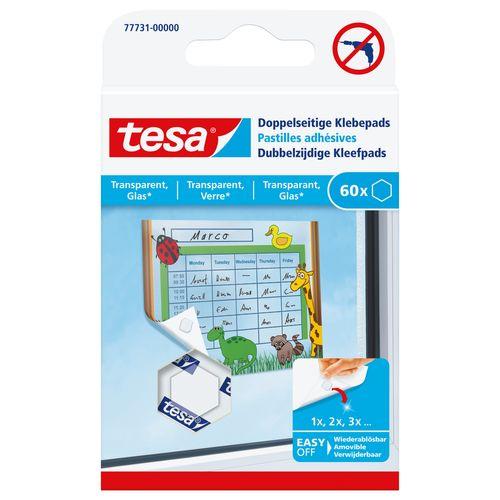 Pads adhésifs Tesa double face pour transparent et verre