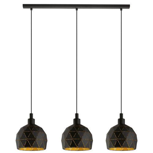 EGLO hanglamp Roccaforte zwart 3xE14