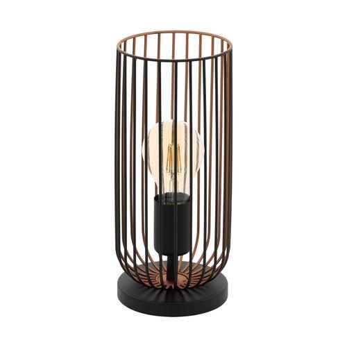 EGLO tafellamp Roccamena zwart E27