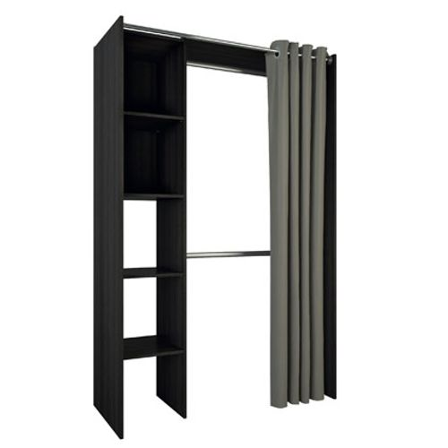 Kit placard extensible Demeyere Troca MDF noir 187x120x50cm