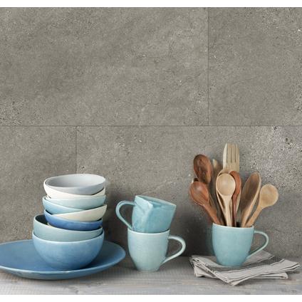 Grosfillex wandpaneel Wall+ PVC Grey Slate 30x60cm