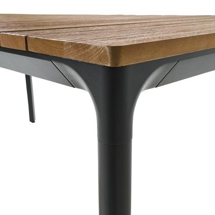 Table de jardin Central Parl Gabrio eucalyptus/aluminium 174x90cm
