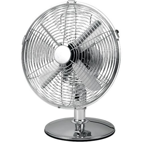 Sencys ventilator tafelmodel TX-1201GD 30cm chroom