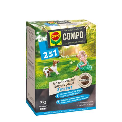 Compo gazonmeststof 2-in-1 (40 m²) 3kg