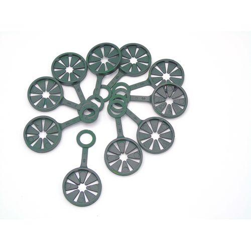 Anneau pour tuteurs pour plantes wigwam vert 10 pièces