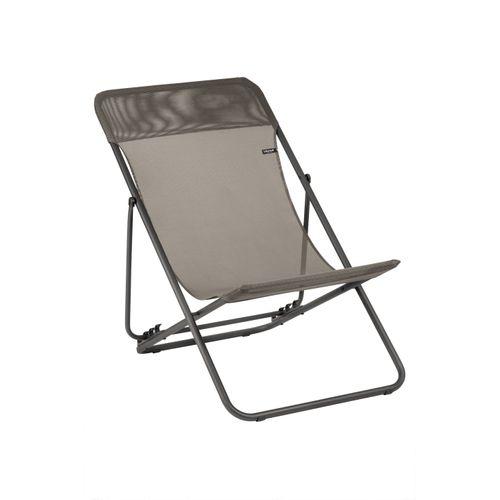 Lafuma opvouwbare strandstoel Maxi Transat grafiet