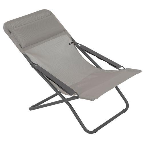 Lafuma strandstoel Transabed opvouwbaar taupe