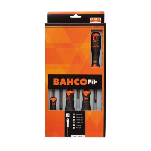 BahcoFit schroevendraaierset met rubber greep - 6-delig