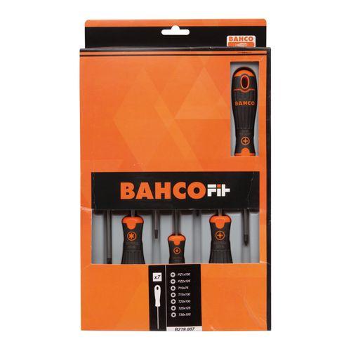 BahcoFit schroevendraaierset, 7 stuks. Voor Pozidriv® en Torx® schroeven