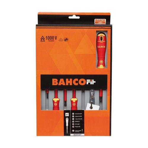 BahcoFiT VDE Geïsoleerde schroevendraaierset met meercomponentengreep en spanningstester voor 150 V tot 250 V - 7 stuks