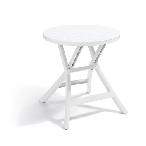 Table de jardin Allibert Oregon blanc pvc 70x72cm