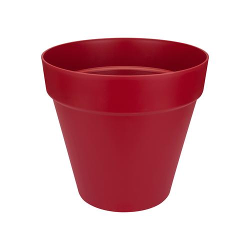 Pot Elho Loft Urban avec roues rond rouge airelle 40cm